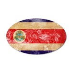 Costa Rica Flag 38.5 x 24.5 Oval Wall Peel
