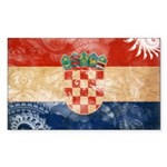 Croatia Flag Sticker (Rectangle 50 pk)