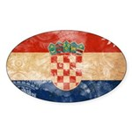 Croatia Flag Sticker (Oval 10 pk)