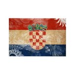 Croatia Flag Rectangle Magnet (100 pack)