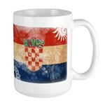 Croatia Flag Large Mug