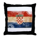 Croatia Flag Throw Pillow