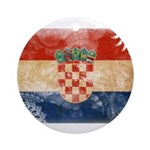 Croatia Flag Ornament (Round)