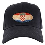 Croatia Flag Black Cap