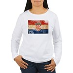 Croatia Flag Women's Long Sleeve T-Shirt