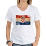 Croatia Flag Women's V-Neck T-Shirt