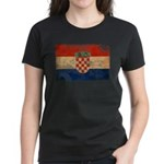 Croatia Flag Women's Dark T-Shirt