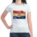 Croatia Flag Jr. Ringer T-Shirt
