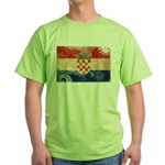 Croatia Flag Green T-Shirt