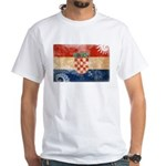 Croatia Flag White T-Shirt