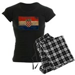 Croatia Flag Women's Dark Pajamas