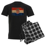 Croatia Flag Men's Dark Pajamas