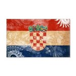 Croatia Flag 22x14 Wall Peel