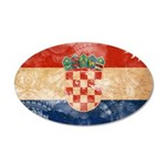 Croatia Flag 38.5 x 24.5 Oval Wall Peel