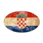 Croatia Flag 22x14 Oval Wall Peel