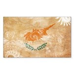 Cyprus Flag Sticker (Rectangle 50 pk)