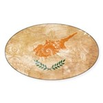 Cyprus Flag Sticker (Oval 50 pk)