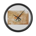 Cyprus Flag Large Wall Clock