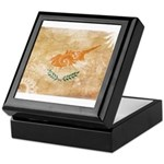 Cyprus Flag Keepsake Box