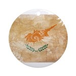Cyprus Flag Ornament (Round)