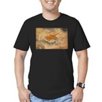 Cyprus Flag Men's Fitted T-Shirt (dark)