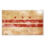 District of Columbia Flag Sticker (Rectangle 50 pk