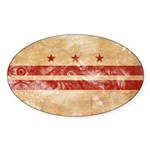 District of Columbia Flag Sticker (Oval)