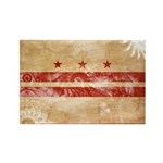 District of Columbia Flag Rectangle Magnet (100 pa