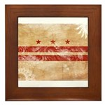 District of Columbia Flag Framed Tile