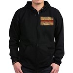 District of Columbia Flag Zip Hoodie (dark)