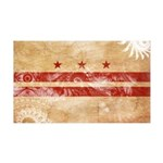 District of Columbia Flag 38.5 x 24.5 Wall Peel