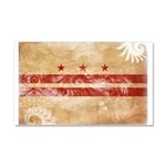 District of Columbia Flag Car Magnet 20 x 12