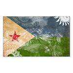 Djibouti Flag Sticker (Rectangle 10 pk)
