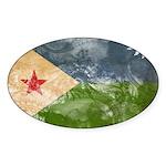 Djibouti Flag Sticker (Oval 50 pk)