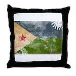 Djibouti Flag Throw Pillow