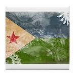 Djibouti Flag Tile Coaster