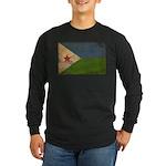 Djibouti Flag Long Sleeve Dark T-Shirt