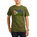 Djibouti Flag Organic Men's T-Shirt (dark)