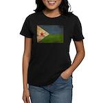 Djibouti Flag Women's Dark T-Shirt