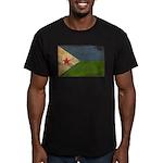 Djibouti Flag Men's Fitted T-Shirt (dark)