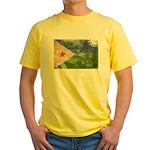 Djibouti Flag Yellow T-Shirt
