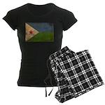 Djibouti Flag Women's Dark Pajamas