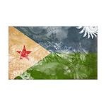 Djibouti Flag 38.5 x 24.5 Wall Peel