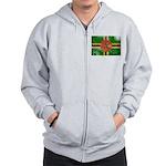 Dominica Flag Zip Hoodie