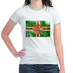 Dominica Flag Jr. Ringer T-Shirt