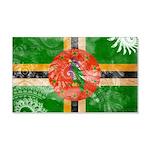 Dominica Flag 22x14 Wall Peel
