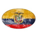 Ecuador Flag Sticker (Oval)