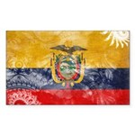 Ecuador Flag Sticker (Rectangle)