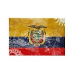 Ecuador Flag Rectangle Magnet (100 pack)