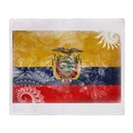 Ecuador Flag Throw Blanket